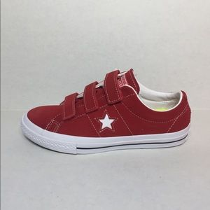 🛍 CONVERSE ONE STAR 3V OX SHOES RED/WHITE/BLACK